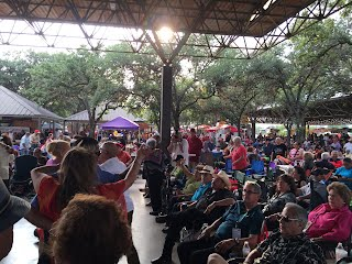 Crowd of folks at Rosedale Park for the 2015 Tejano Conjunto Festival in San Antonio, Texas