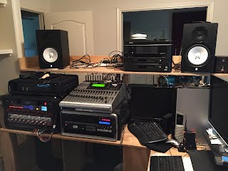 Night Owl Recording mobile recording studio setup in Buda, Texas with the War Daddies