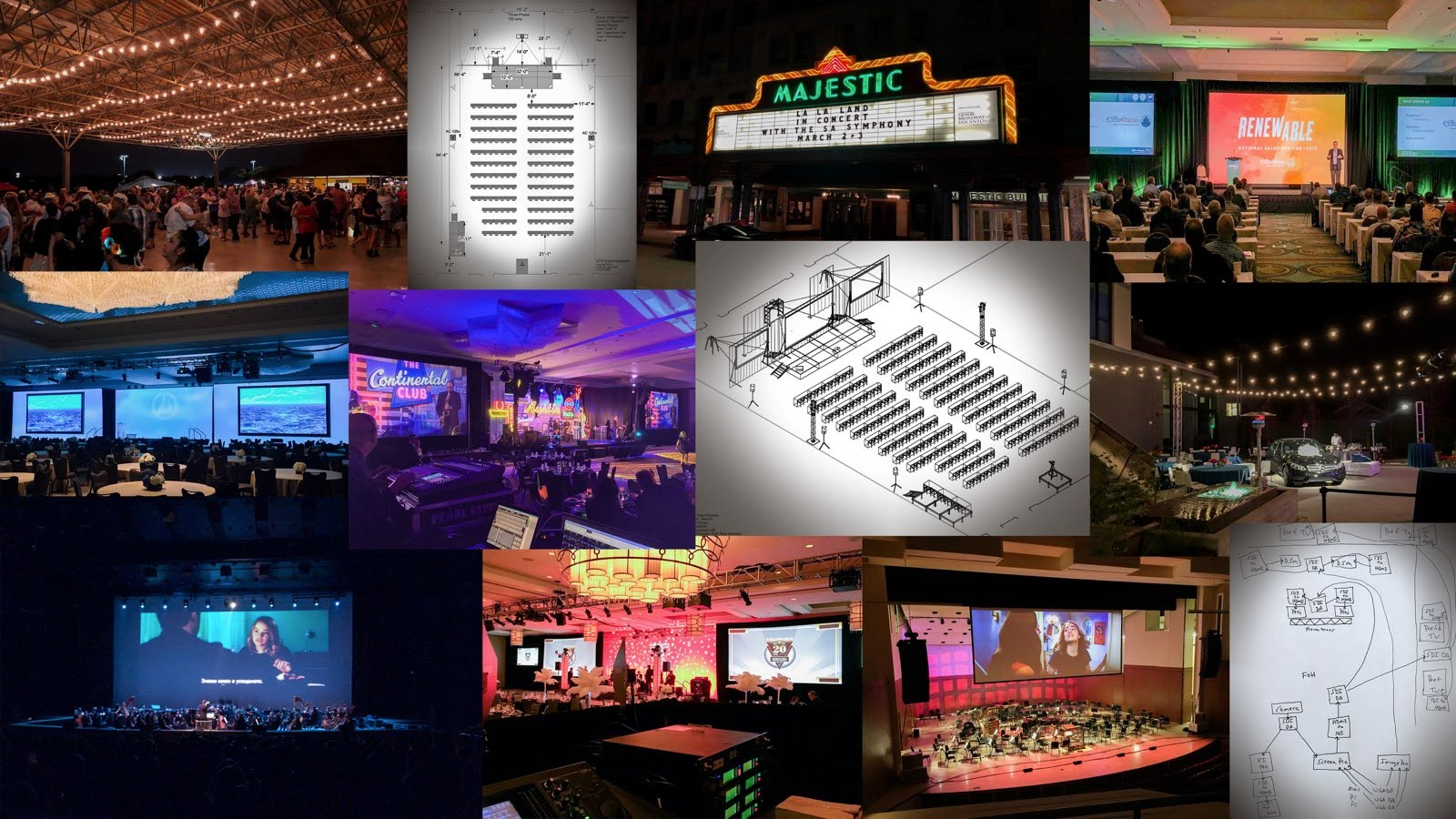 Night Owl Recording LLC Event Production Collage v4