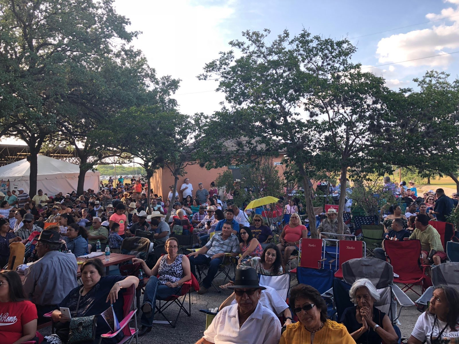 Night Owl Recording. 2018 Tejano Conjunto Festival Crowd on Satuday afteroon.